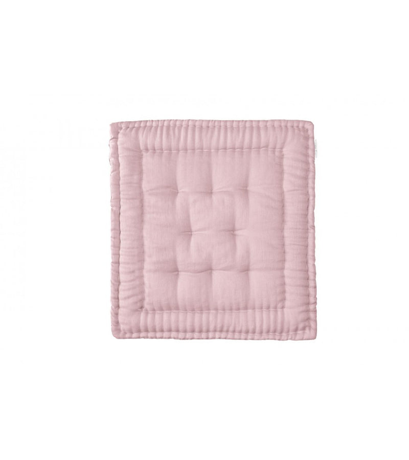 Zana by Mama Organic Linen Baby Quilt – Dusty Pink