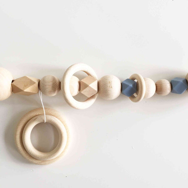 Bezisa Wooden Basics Pramstring in Powder Blue colour