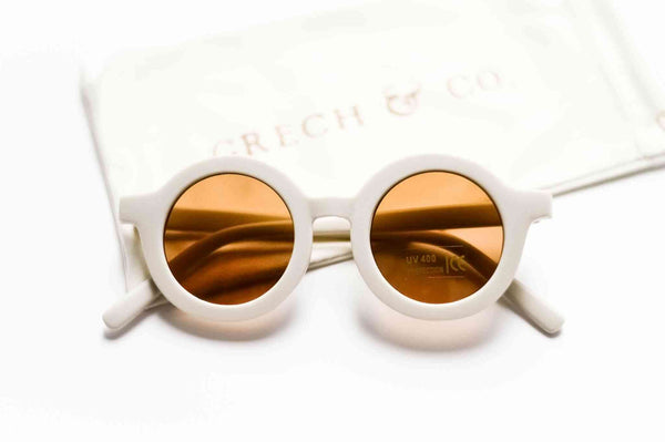 Grech & Co Sustainable Kids Sunglasses in Buff colour
