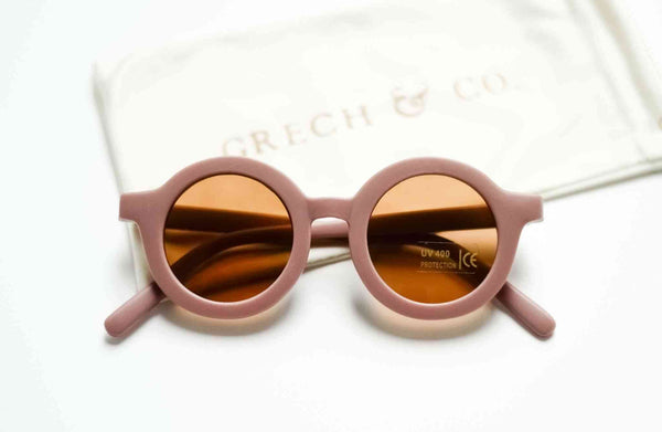 Grech & Co Sustainable Kids Sunglasses in Burlwood colour