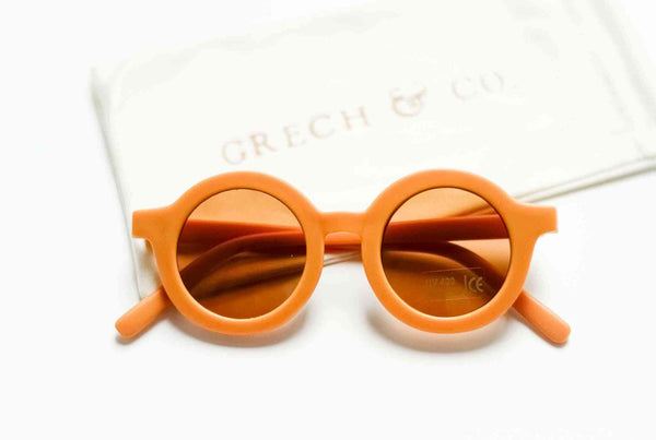 Grech & Co Sustainable Kids Sunglasses in Golden colour