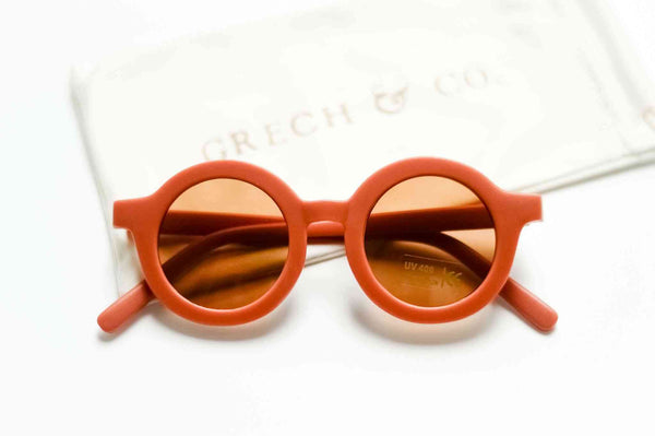 Grech & Co Sustainable Kids Sunglasses in Rust colour