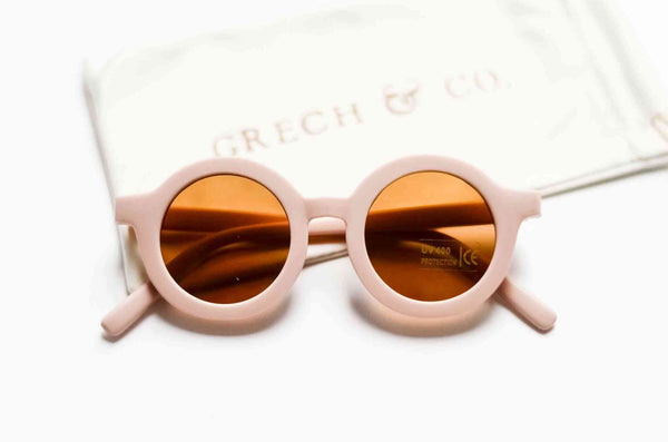 Grech & Co Sustainable Kids Sunglasses in Shell colour