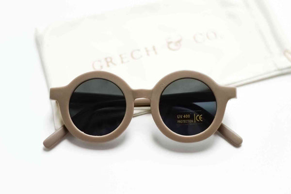 Grech & Co Sustainable Kids Sunglasses in Stone colour