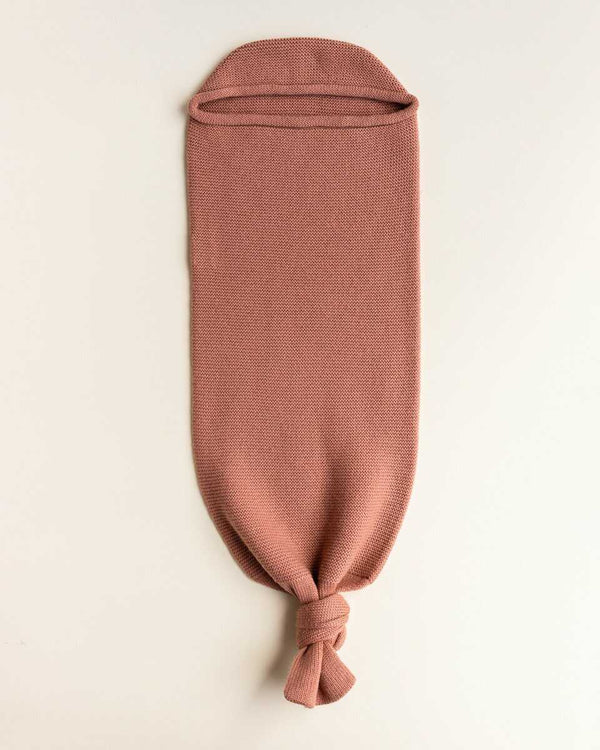 Hvid Merino Wool Baby Cocoon in Brick colour