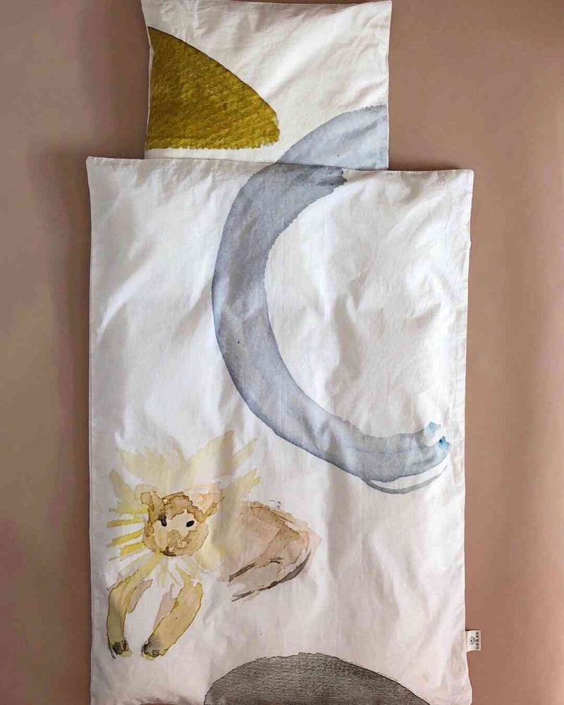 LeoLeo Copenhagen Organic Cotton Watercolor Baby Bedding
