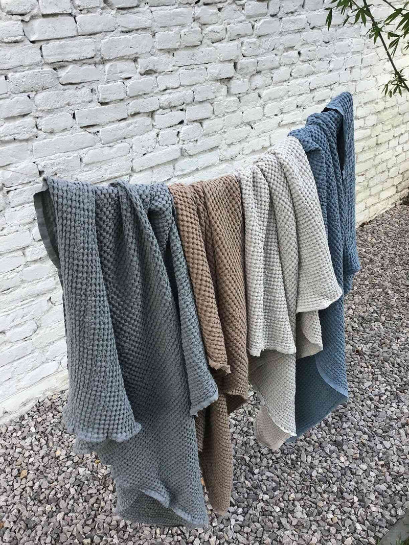 Mallino Waffle Blanket in Powder colour