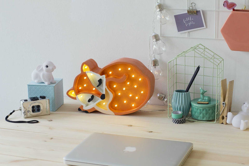 Little Lights Fox Wooden Lamp