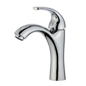 Bellaterra Home Faucet - Single Hole Single-Handle Bathroom Faucet in Polished Chrome, Stainless Steel Bathroom Sink Faucets, Seville - 10165B1-PC-WO