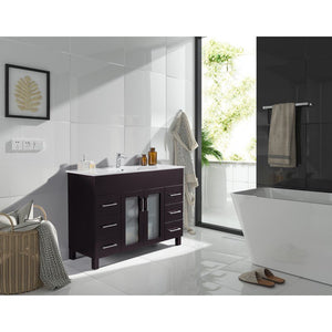 Laviva Vanity - Nova 48 Inch Vanity With Ceramic Basin Counter | 48 inches W x 19 inches D x 34 inches - 31321529-48-CB