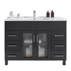Laviva Vanity - Nova 48 Inch Vanity With Ceramic Basin Counter | 48 inches W x 18 inches D x 34 inches H - 31321529-48-CB