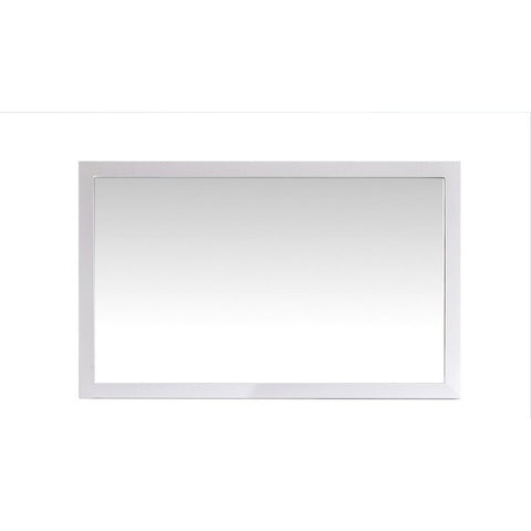 Laviva Fully Framed 48 Inch Mirror in White - 48 inches in W x 30 inches in H | 313FF-4830W