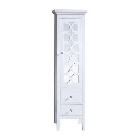 Laviva Mediterraneo16 Inch Side cabinet in White - 18 inches L x 16 inches W x 67 inches - 313MKSH-SCW