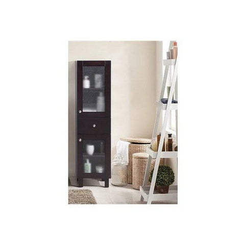 Laviva Everest 14 Inch Side Cabinet in Brown - 15 L x 14 W x 54 H - 313YG618-SCB