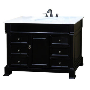 60 in. W x 23 in. Ashington ES - D Vanity in Espresso with Marble Vanity Top for White - Bathroom Styles Inc.