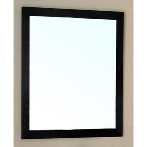 Bellaterra Home W Lovington - Solid Wood Frame Wall Mirror in Black - 32 inches L x 26 inches - 804375-MIR-32-BL