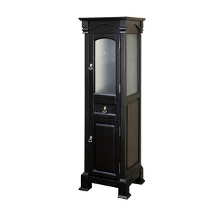 Bellaterra Home Bathroom Linen Storage Cabinet in Espresso, Bloomfield - 18 inches W x 65 inches H x 17 inches - 205065-TOWER-ES