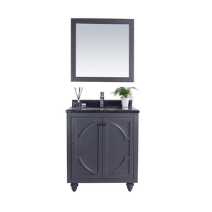 LAVIVA Cabinet - Maple Grey Cabinet with Black Wood Countertop, Premium Quality, High, Durable & Reliable Materials - Odyssey 30 Inch - 30 in. W x 22 in. D x 35 inches - 313613-30G-BW