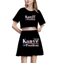 Load image into Gallery viewer, Kanye West Tops and Skirt