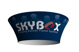 10ft Tapered Circle Hanging Banner Package