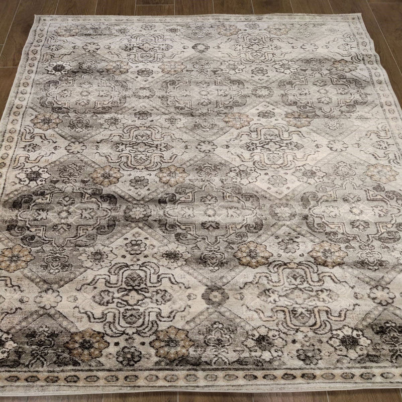 KP 1504 Grey 160x214cm Rug - The Rugs Outlet