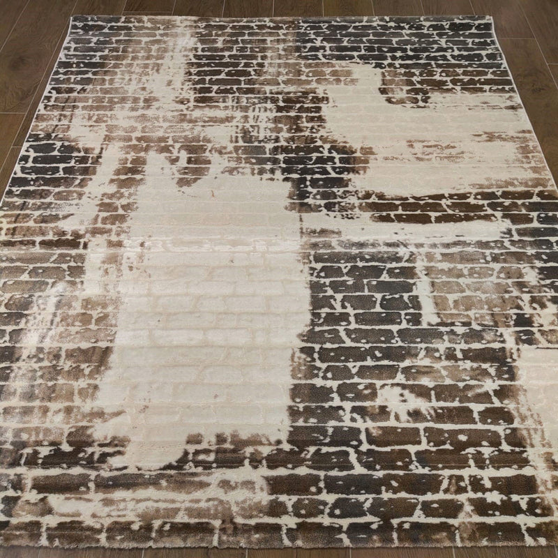 KP 1534 Brown 160x230cm Rug - The Rugs Outlet