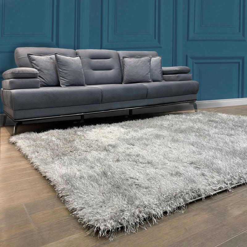 Lily 3D Shaggy Grey Rug - The Rugs Outlet
