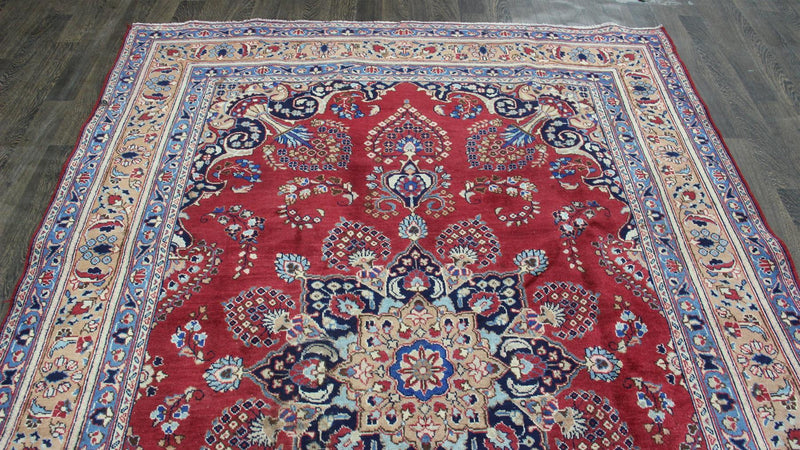 Traditional Vintage Handmade Rug 204x295cm - The Rugs Outlet