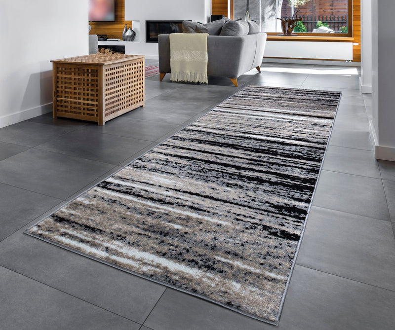 Palma 1495 Grey Black Rug - The Rugs Outlet