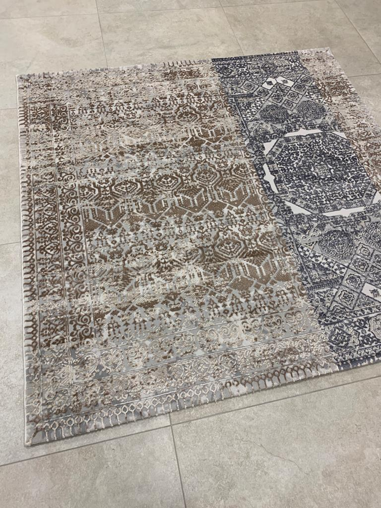 KP 1408 Grey 170x170cm Rug - The Rugs Outlet