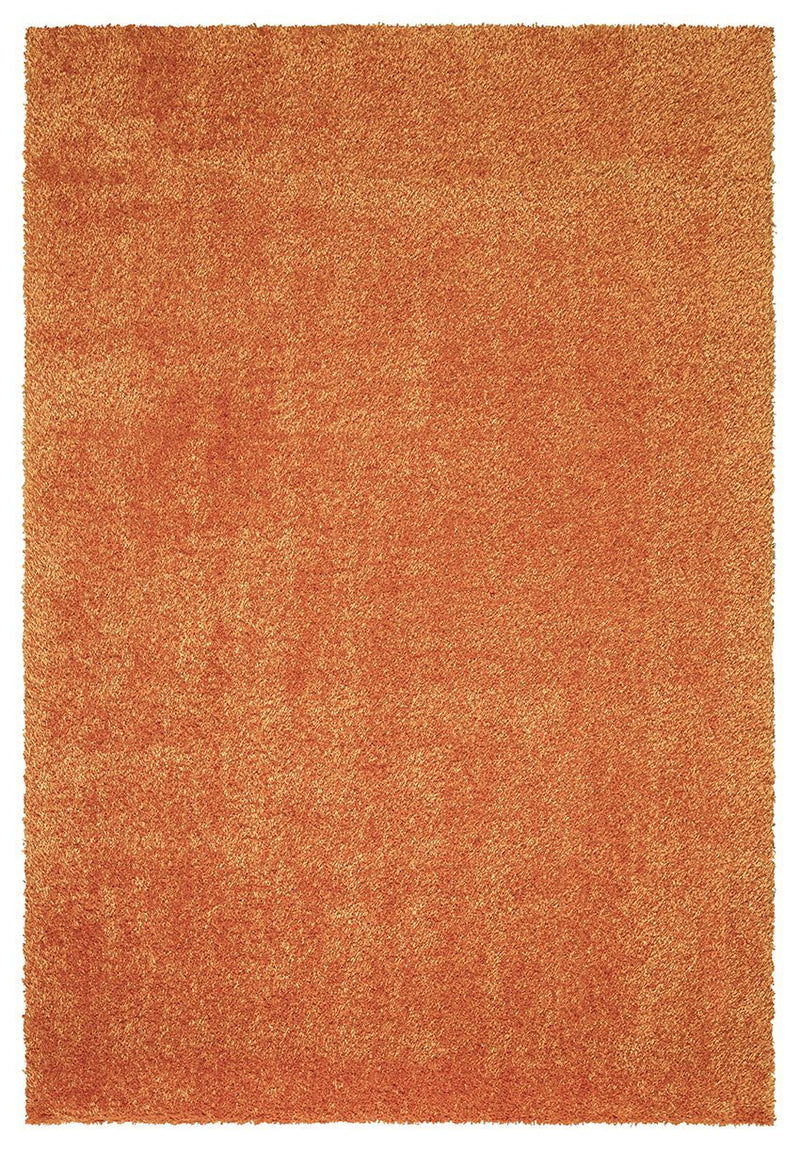 Puffy Super Soft Shaggy Orange Rug - The Rugs Outlet