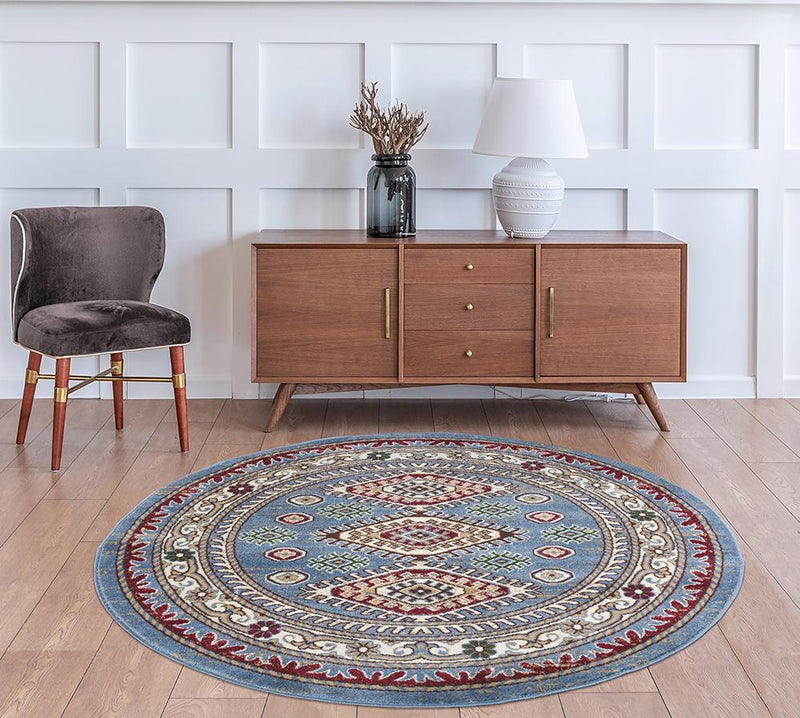Qashqai 5576 Traditional Blue Rug - The Rugs Outlet