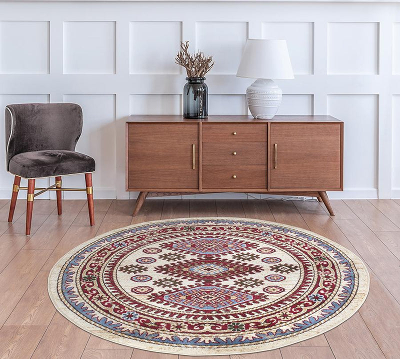 Qashqai 5576 Traditional Cream Rug - The Rugs Outlet