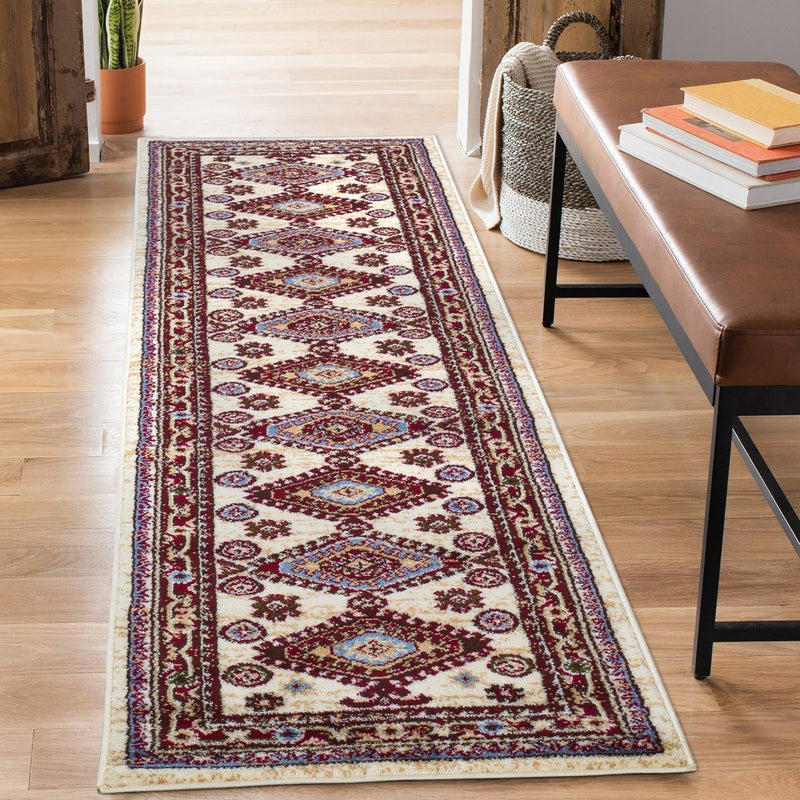 Qashqai 5576 Traditional Cream Rug