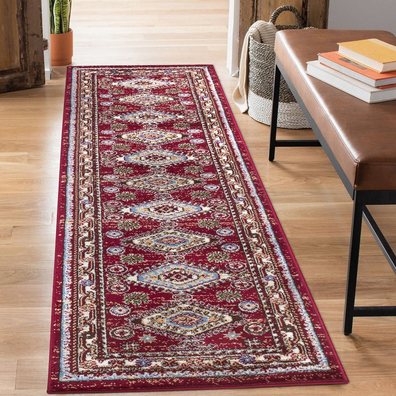 Qashqai 5576 Traditional Red Rug