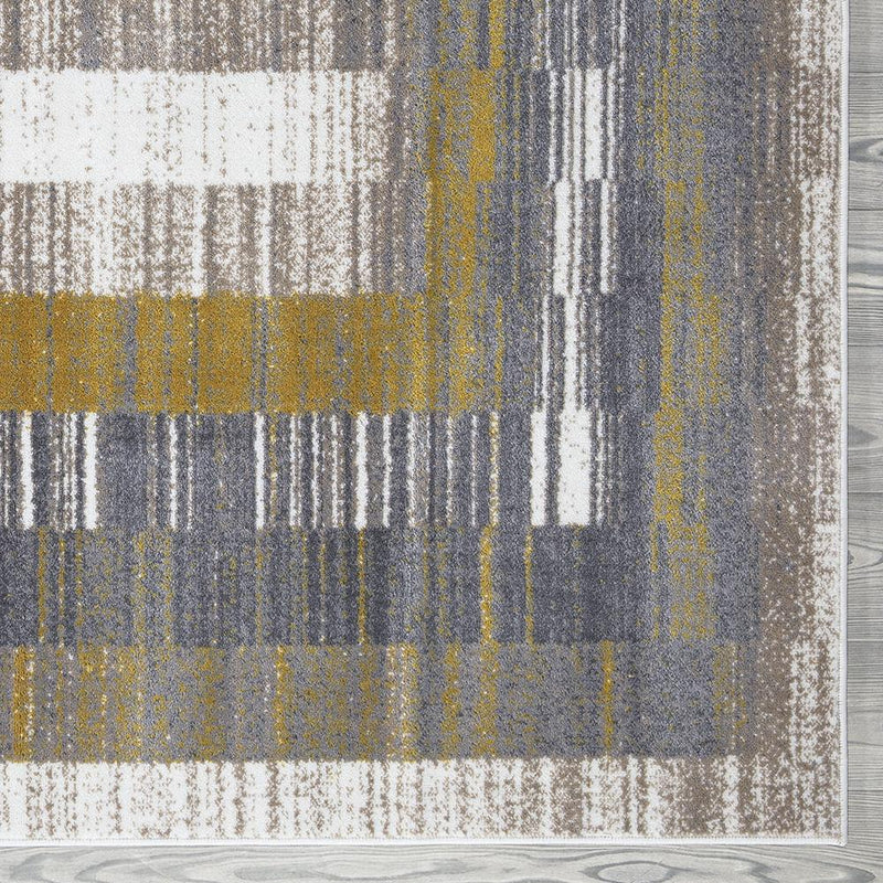 Sevilla 5377 Grey & Yellow Rug - The Rugs Outlet