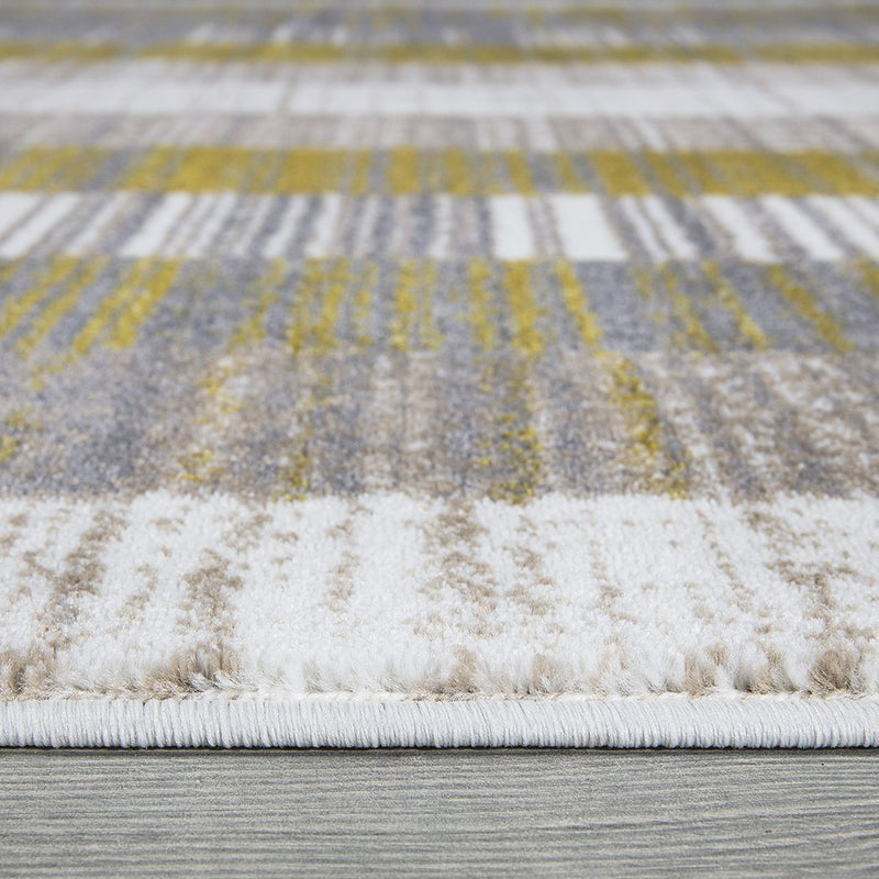 Sevilla 5377 Grey & Yellow Rug The Rugs Outlet