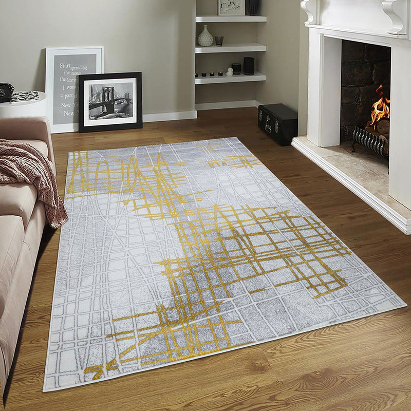 Sevilla 5390 Grey & Yellow Rug The Rugs Outlet 80x150cm