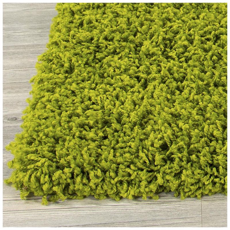Shaggy 5cm Plain Green Rugs - The Rugs Outlet