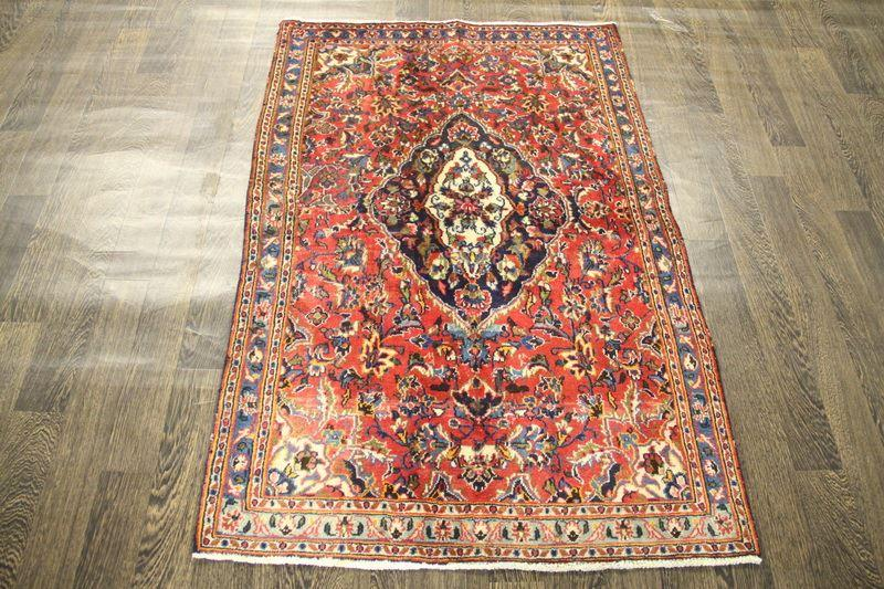 Traditional Vintage Handmade Rug 100x150cm - The Rugs Outlet