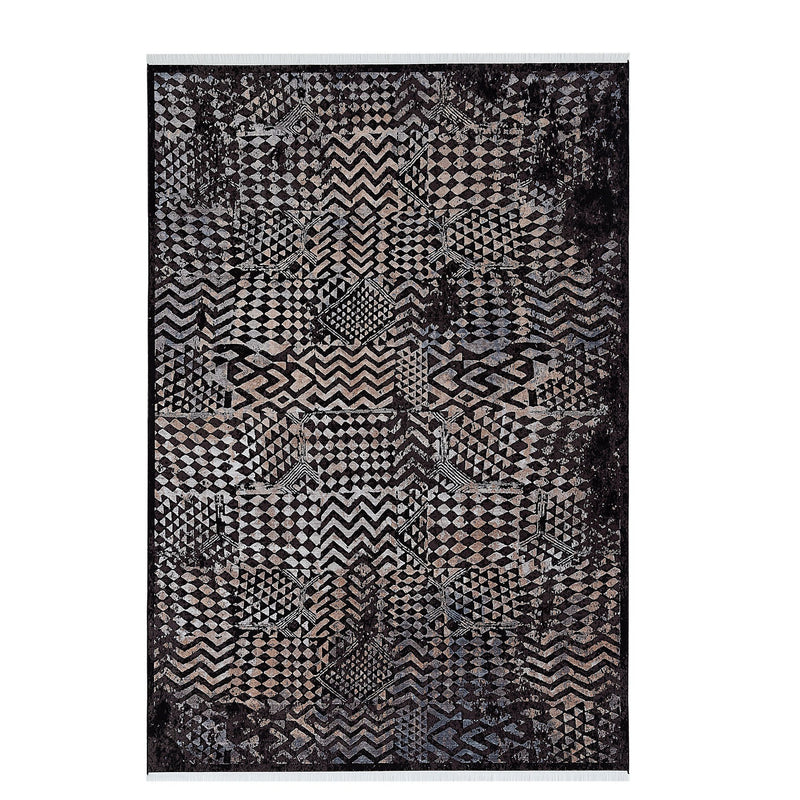 Elexus Ruby 03056 Black Beige Rugs - The Rugs Outlet