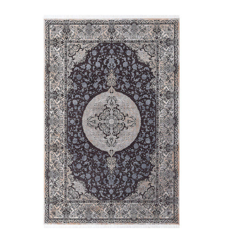 Elexus Ruby 03059 Black Blue Rugs - The Rugs Outlet