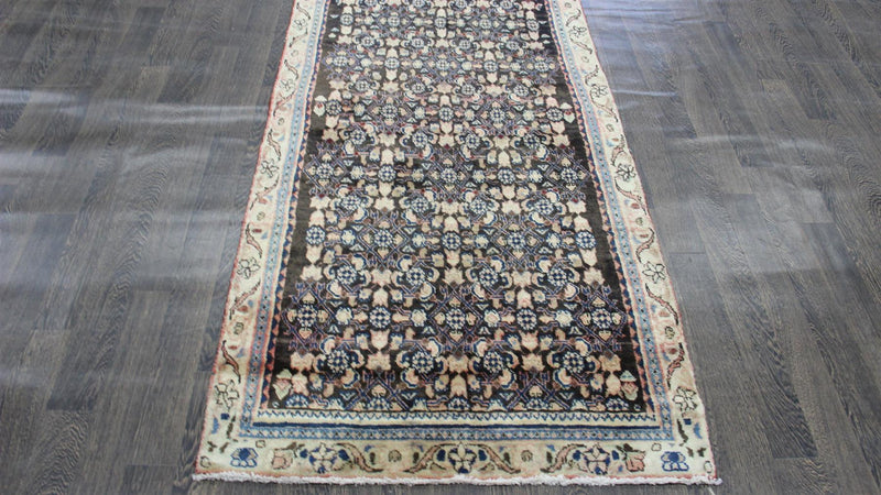 Traditional Vintage Handmade Rug 105x280cm - The Rugs Outlet