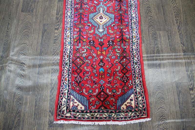 Traditional Vintage Handmade Rug 65x155cm - The Rugs Outlet