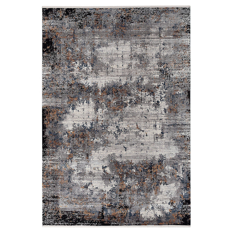 Kalipso 01717 Grey & Black Rugs - The Rugs Outlet