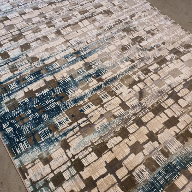 KP 70 Beige Blue 160x220cm Rug The Rugs Outlet
