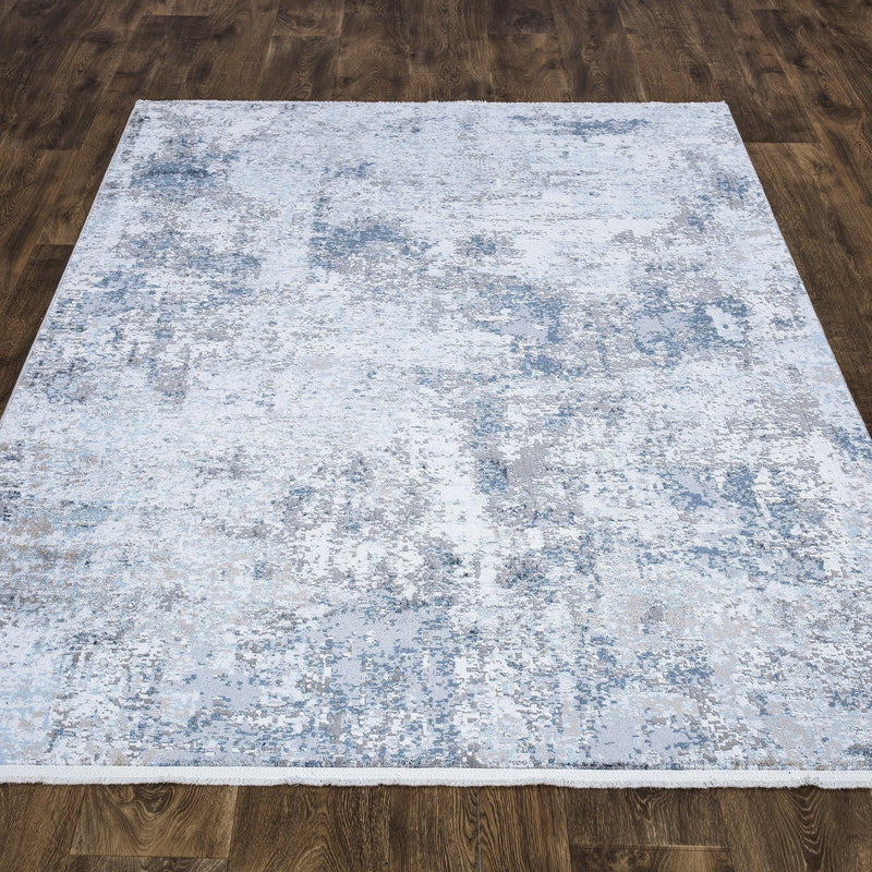 Luxi 8432 Grey & Blue Rug - The Rugs Outlet