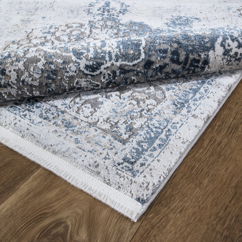 Luxi 8443 Blue Beige Rug - The Rugs Outlet