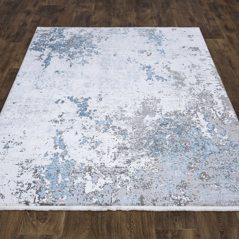 Luxi 8444 Ivory Blue Rug - The Rugs Outlet