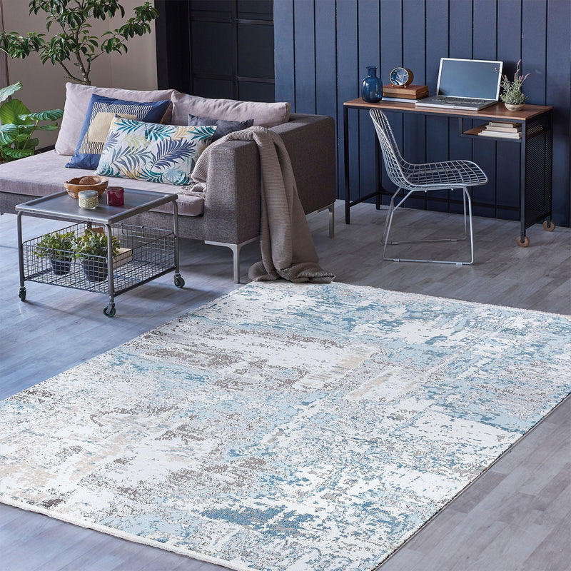 Luxi 8449 Blue Rug - The Rugs Outlet